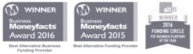 Winner of the Moneyfacts award in 2015 and 2016 and the AltFi award in 2016