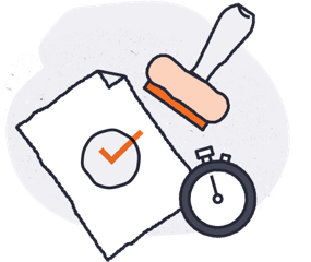 decision stamp illustration